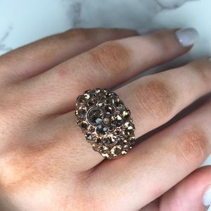 Fossil rose gold cocktail ring